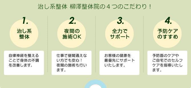 柳澤整体院のバランス活性療法は痛くない整体です